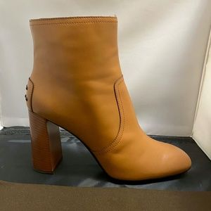 Tod's Shoes - Tod's Studded Heel Tan Ankle Boots, New in Box